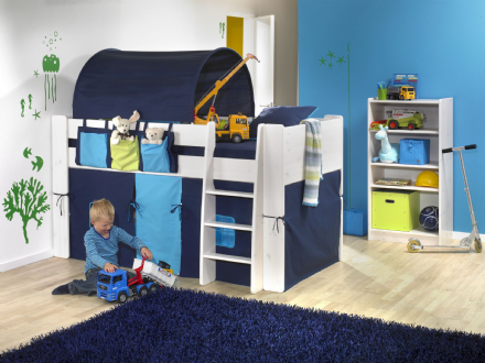 FOR KIDS  TUNNEL FOR SINGLE BED BLUE